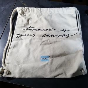 TOMS Shoes Heavy Canvas Cinch Sack Bag